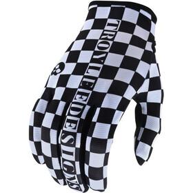Troy Lee Designs Flowline Gloves, checkers white/black